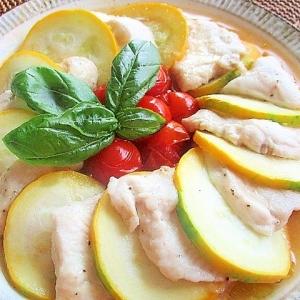 夏野菜と一緒に♪「鶏むね肉」が主役の献立