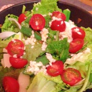 オクラと三つ葉、長芋の塩麹サラダ