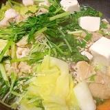手羽先の白湯スープ鍋