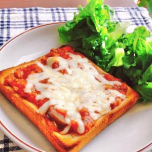 朝食に♪作り置きミートソースで簡単トースト