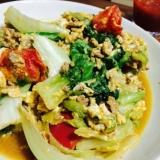 簡単ご飯に合う^_^レタスとトマトの炒め物