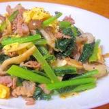ふわっふわ卵としゃきしゃき小松菜の中華いため