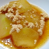 冬瓜と鶏そぼろのハチミツ煮