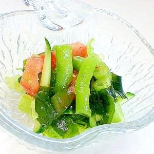 いんげんの中華風サラダ
