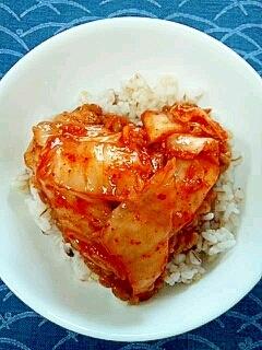 納豆の食べ方-たっぷりキムチ♥