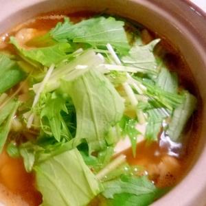 キムチの素で簡単!スタミナ満点!豚肉の豆腐チゲ