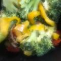 ブロッコリーと赤パプリカの韓国風マリネ