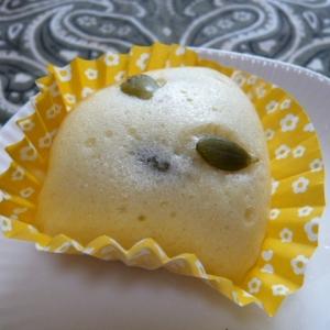 大豆粉、かぼちゃのタネ蒸しパン