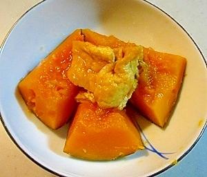 かぼちゃとうすあげの煮物