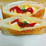 簡単☆食パンde卵のポケットサンド
