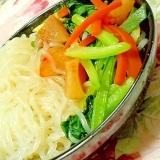 ダシダで作ろ❤糸蒟蒻とカクテキ&小松菜人参煮❤