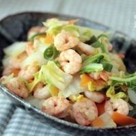 海老と白菜の生姜炒め