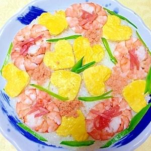 母の日に、ハートいっぱいのケーキ寿司❤