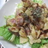 レンコンとさつま芋のかき揚げ丼