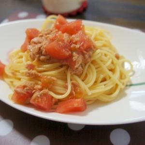 夏バテにも!トマトとツナの冷製スパゲティ