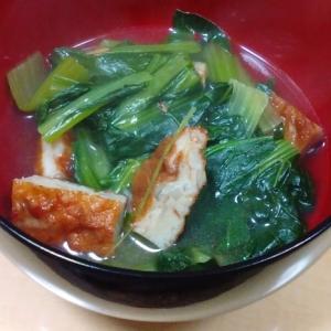 さつま揚げ入りの小松菜の煮びたし