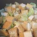 キャベツと厚揚げの煮物