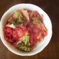 冷蔵庫のお野菜でミネストローネ