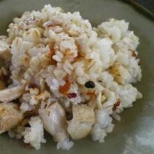 鶏肉の食べるラー油炒飯
