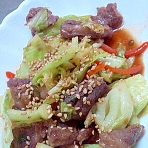 ごはんがすすむ☆カルビと野菜の甘辛炒め