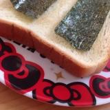 食パンで(*^^*)味付け海苔の和風トースト☆