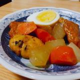 夏にもおでん☆大根と人参とさつま揚げと茹で卵の煮物