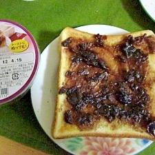 甘じょっぱいあんこバタートースト
