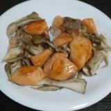 鮭とまいたけの炒め物