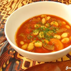 残ったトマトシチューde大豆のチリコンカン風