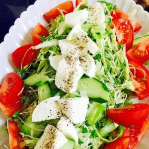 簡単!パーティーに☆野菜いっぱい大皿サラダ!