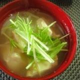 ☆水菜と豆腐のヘルシー味噌汁☆