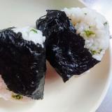 穂紫蘇の混ぜご飯おにぎり