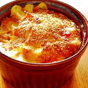 トリプルチーズのココットオムレツ