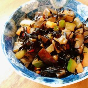 茄子と胡瓜入りひじき煮