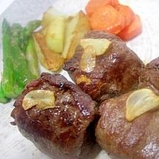 厚揚げの牛肉包みステーキ★こま肉でごちそう!!