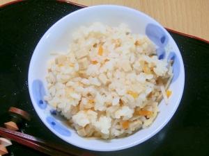 味噌できんぴらの炊き込みご飯
