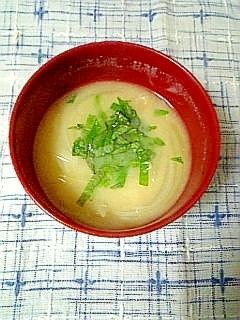 ☆大葉と玉ねぎのお味噌汁☆