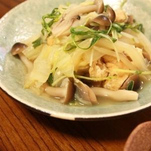 白菜と水菜のあっさり煮