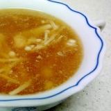 豚とエノキの和風スープ