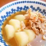 煮るのは10分!長芋と豚こま・生姜の煮物