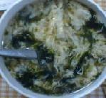 海苔の卵スープ