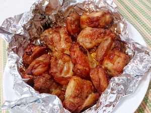 鶏もも肉のにんにく醤油照り焼き (ノンフライヤー)