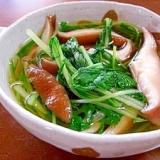 水菜と椎茸の煮びたし