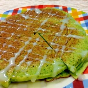 ほうれん草とお豆腐のパンケーキ【卵なし】