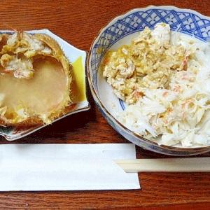 北海道グルメ♪ 毛蟹「とも和え&甲羅酒」