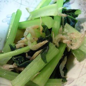 小松菜と干しエビのさっと煮
