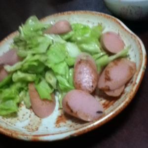 キャベツと魚肉のクレイジー炒め