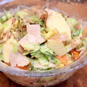 学校給食♪我が家流で絶品りっちゃんの元気サラダ!