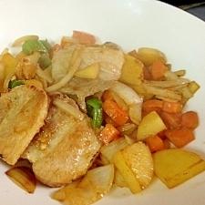 豚バラ塩麹漬け野菜炒め