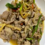 中華料理!胡麻油のラム炒め